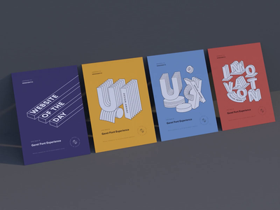 CSS Design Awards - Website of the Day web visual gradientic motion animation 3d