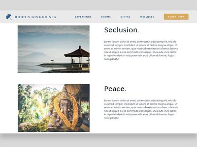 Hidden Gingko Spa - 2 ui  ux uidesign website design web design webdesign website web uiux ui design ui spa retreat peaceful health calm branding bali avenir
