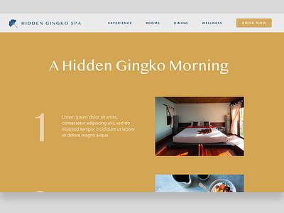 Hidden Gingko Spa - 4 webdesign website design web design gold website web ui  ux uidesign uiux ui design retreat peaceful health calm branding bali avenir ui spa