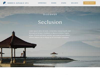 Hidden Gingko Spa - 6 website builder website concept website design websites asia ui  ux uidesign uiux website ui design ui spa retreat peaceful health calm branding bali avenir