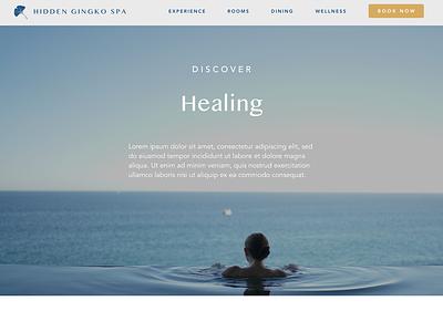 Hidden Gingko Spa - 7 website design webdesign web design web ui  ux uidesign uiux health calm website ui design ui spa retreat branding bali avenir