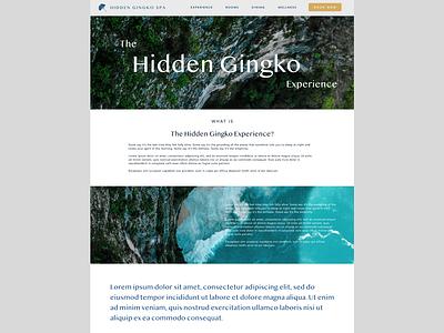 Hidden Gingko Spa - Experience page yoga wellness website design web web design webdesign uidesign uiux ui  ux ui calm logo illustration website ui design spa retreat branding bali avenir