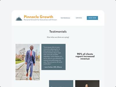 Testimonials Page Design for Professional Coaching marketing testimonials wellness self-help coaching desktop design dailyui ui  ux uiux website uidesign ui design ui
