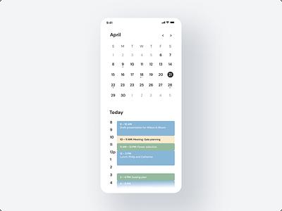Calendar Mobile App mobile calendar calendar design app design app mobile calendar daily ui design dailyui ui  ux uiux website uidesign ui design ui