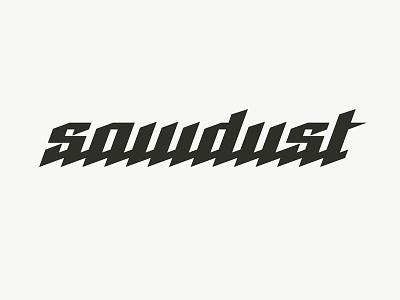 Sawdust logo logotype saw sawdust timber