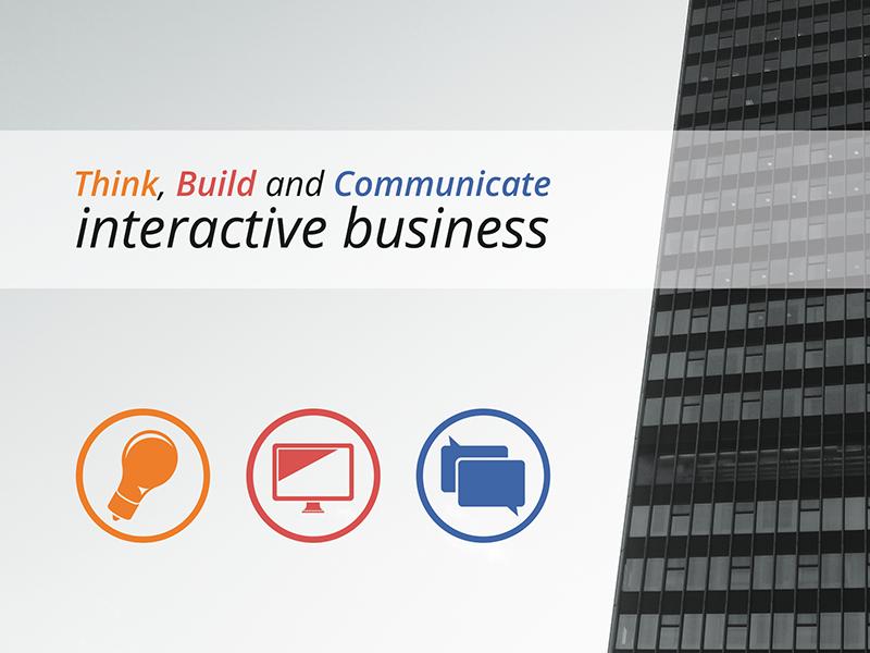 Brochure brochure interactive business skyscraper think build communicate