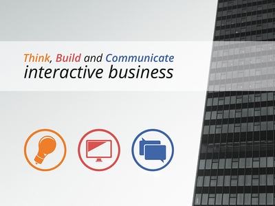 Brochure brochure interactive business skyscraper think build communicate
