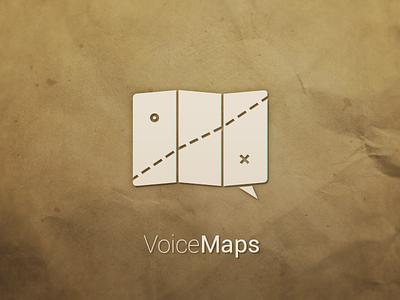 Voice Maps Logo voice map navigation logo app vocal
