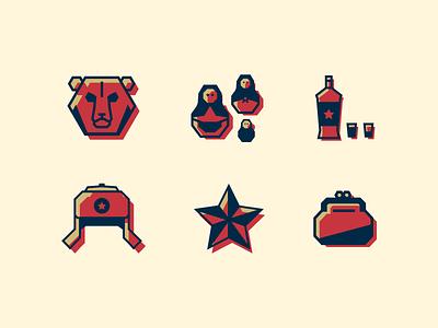 Soviet Icons Set vector soviet branding ui flat illustration icon