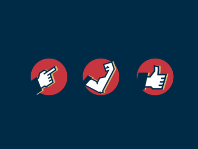 Hands Icons Set vector design ui icon flat