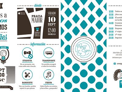 Wedding Invitation print design illustration invitation wedding