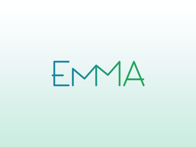 EMMA logo and isotype stats crown graph mountain isotype marketing automation emma logo
