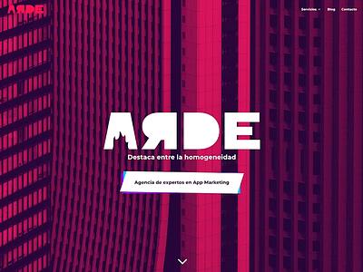 ARDE - App Marketing Agency Website css3 flat design flat animation web design webdesign website fuego fire burnt burn arde