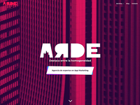 ARDE - App Marketing Agency Website css3 flat design flat animation web design webdesign website fuego fire burnt burn arde