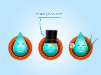 Mister Gloss Website and Mascot
