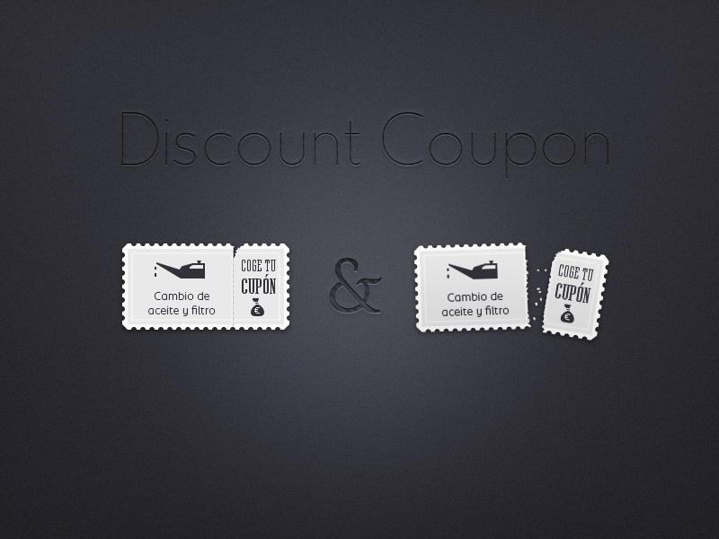Discount coupon dribbble