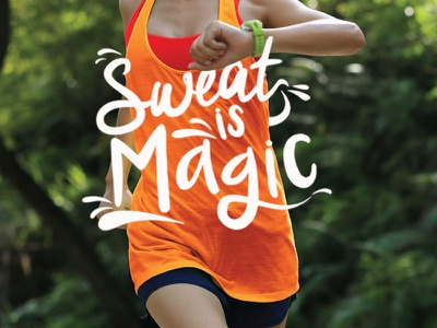 Sweat Is Magic type workout social media illustration sweat gym blogilates instagram hand lettering typography