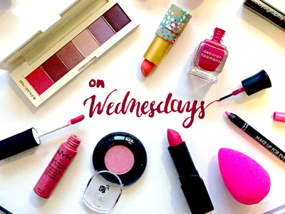 """On Wednesdays, We Wear Pink"" socialmedia photoshop nailpolish lettering handmade makeup typography pink wednesday"