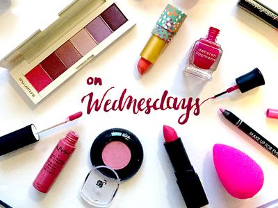 """On Wednesdays, We Wear Pink"" socialmedia photoshop nailpolish lettering handmade makeup typography pink wednesday"