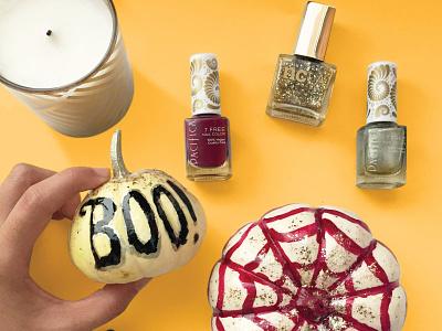 Boo! boo pumpkin paint nailpolish handlettering handmade lettering diy halloween instagram