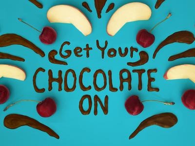 Chocolate Typography fun photo healthy fruit handmade food lettering food typography lettering typography chocolate