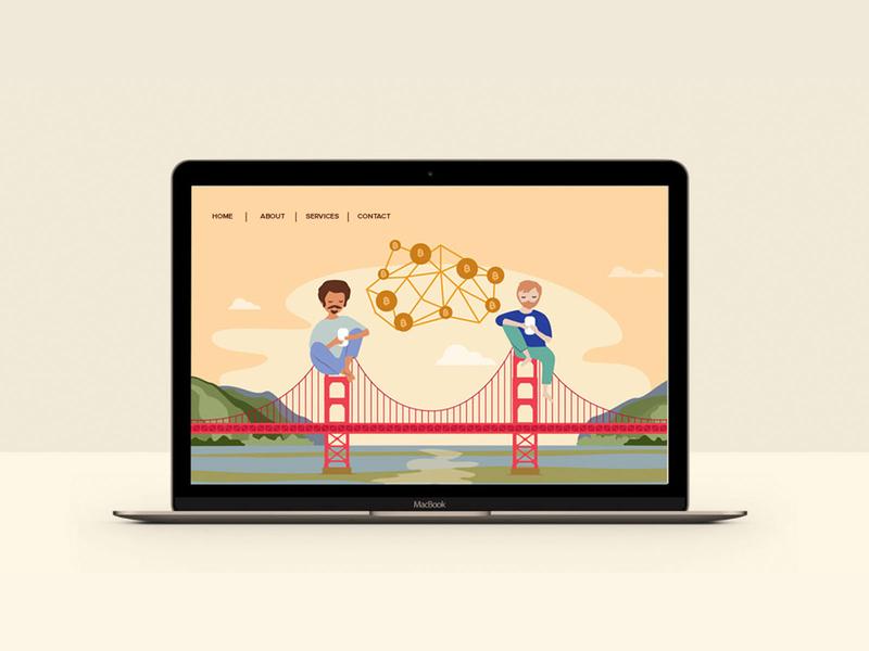 Landing page illustration landingpage vector illustration