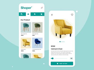 Shoper E commerce app UI Design shopping app design shopping app ui design ui design shoper e commerch app typography landing page design design ui designer app design branding graphic design ui
