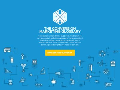 Conversion Marketing Glossary icons design marketing glossary illustration