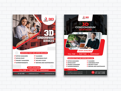 3D Condominium Service Flyers business flyer facebook posts design corporate flyer ad banners flyer design logo event flyer artwork flyer template