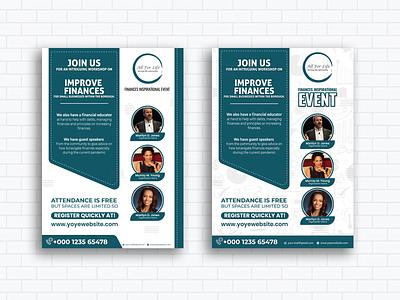 Finances Inspirational Event flyer design logo flyer design flyer artwork branding event ad flyer template banners