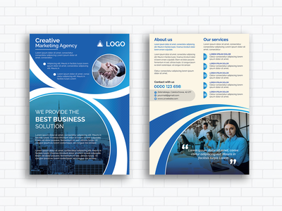Double-Sided Business Flyer Design poster ad event flyer design flyer artwork design flyer template banners