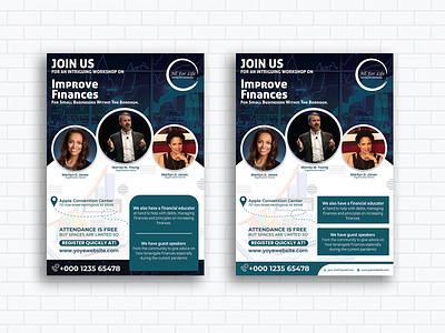 Finances Inspirational Event flyer corporate flyer poster flyer design ad vector design event banners flyer artwork flyer template