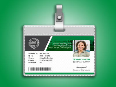 ID card design id badge baggage student id card employee id identity branding poster vector banners ad flyer design illustrator id card id card template id card design identity identity design