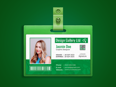 Horizontal ID card design ad event vector flyer template illustration business identity logo bag design badgedesign id card template id card design identity branding identity design identity