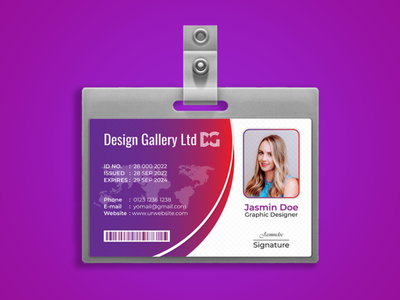ID card design ad illustration flyer template badgedesign badges id card design id card template id card identity design identity branding identity