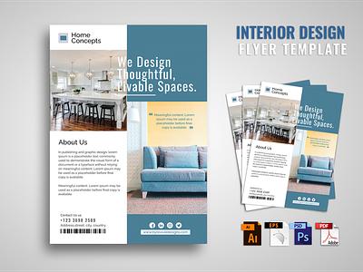 Interior Design flyer branding vector business flyer flyer artwork flyer template logo graphic design ad advertising home print design furniture poster flyer design interior design interiordesign