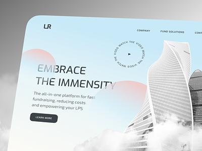 FinTech App Landing fintech manage ui landing invest financial desktop