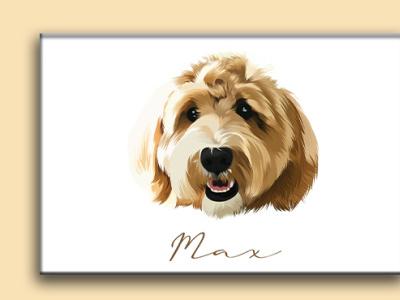 Digital Pet Portrait illustration. pet portrait dogportrait portrait