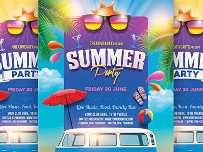 Summer Party Flyer summer party flyer summer party summer flyer summer beach party summer spring party spring break spring season