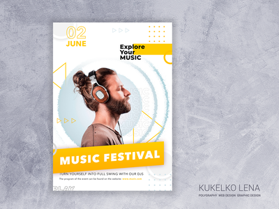 Music festival flyer poligraphy leaflet design flyers design flyer