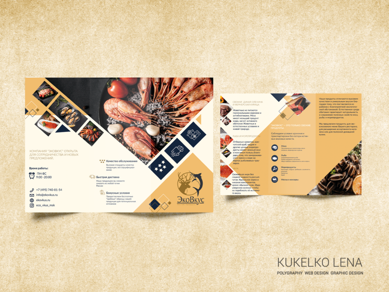 Brochure in 2 folds graphic design flyer design flyer brochure design brochure poligraphy design