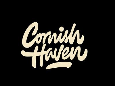 Cornish Haven logotypedesign logotypedesigner jerryokolo b2b digitalart logo designer custom lettering hand drawn logodesign handlettering procreate logotype clientwork typography