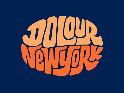 Dolour New York shopify newyork clothing design logotype designer itsjerryokolo illustration logo jerryokolo handlettering procreate clientwork typography hand drawn