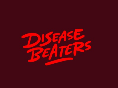 Disease Beaters ill coronavirus disease logotypedesign jerryokolo itsjerryokolo logo designer custom lettering handlettering procreate logotype clientwork typography hand drawn