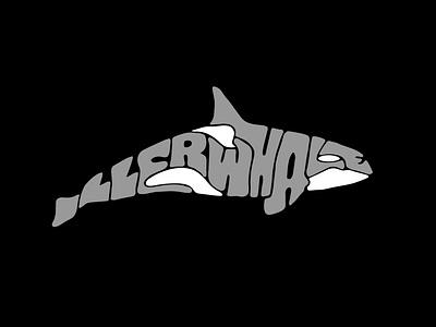 illerwhale tshirtdesign sticker digitalart logodesign lettering logo designer handlettering handmade jerryokolo itsjerryokolo killer whale fish logo whale logo swim fish whale typography hand drawn procreate