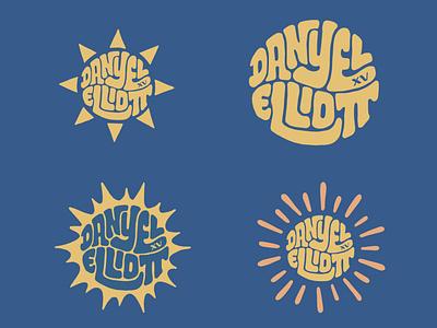 Danyel Elliott sunburst sun danamo elliott wilson danyel smith jerryokolo itsjerryokolo couple logodesign lettering logo designer custom lettering handlettering logotype procreate clientwork typography hand drawn