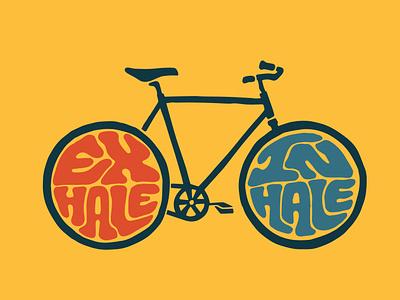 inhale exhale stickers stickermule clothing brand clothing bicycle bike ecommerce exhale inhale itsjerryokolo logo jerryokolo logo designer custom lettering handlettering logotype procreate clientwork hand drawn typography