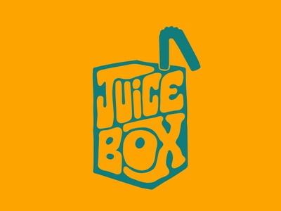 Juice Box kids shack juice logo juices juice bar juicebox juice logodesign jerryokolo itsjerryokolo custom lettering handlettering logotype procreate clientwork hand drawn typography
