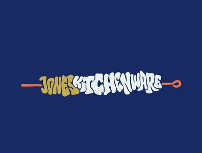 Jones Kitchenware eat food cooking kitchenware kitchen shawarma bbq kebab itsjerryokolo jerryokolo logodesign lettering logo designer custom lettering handlettering logotype procreate clientwork hand drawn