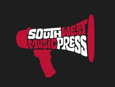 South West Music Press music player band studio megaphone press music logodesign logo designer itsjerryokolo jerryokolo logotype handlettering clientwork procreate hand drawn typography